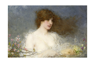 A Spring Idyll. 1901 Giclee Print by George Henry Boughton