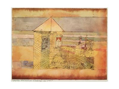 Miraculous Landing, or the '112!' (Wunderbare Landung, oder '112!'). 1920, 179 Giclee Print by Paul Klee