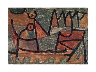 Sinister boat ride (Finstere Bootsfahrt). 1940, 345 Giclee Print by Paul Klee