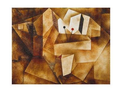 The Kettledrum Organ (Die Paukenorgel). 1930 Giclee Print by Paul Klee