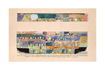 Hoch und strahlend steht der Mond... 1916, 20 Giclee Print by Paul Klee
