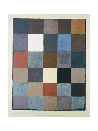 Table of colours (on grey) (Farbtafel (auf maiorem Grau)). 1930, 83 Giclee Print by Paul Klee