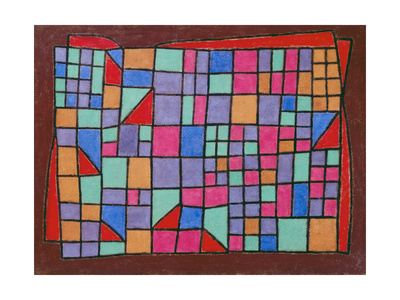 Glass Facade (Glas-Fassade). 1940, 288 Giclee Print by Paul Klee