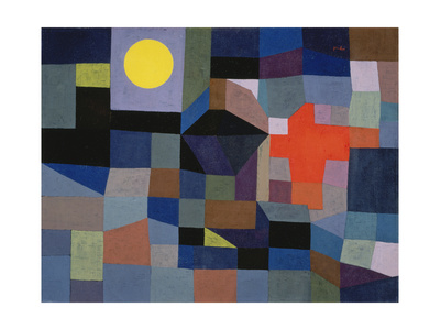 Fire at Full Moon (Feuer bei Vollmond). 1933 Giclee Print by Paul Klee