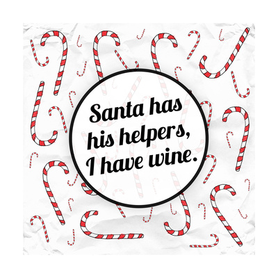 Santa's Helpers - Wine Posters by Ashley Hutchins