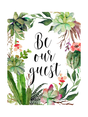 Be Our Guest Wreath Posters by Tara Moss