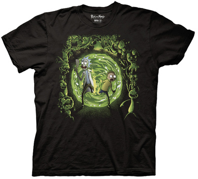 Rick & Morty - Portal And The Monsters Shirts