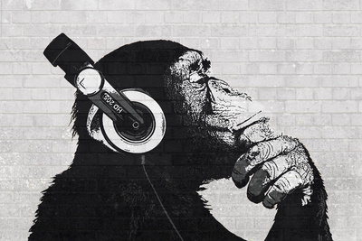 The Chimp Stereo - wall Print