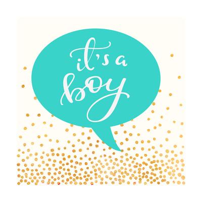 It's A Boy Prints by Evangeline Taylor