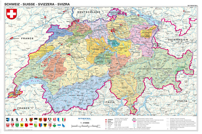 Schweiz - politisch Posters