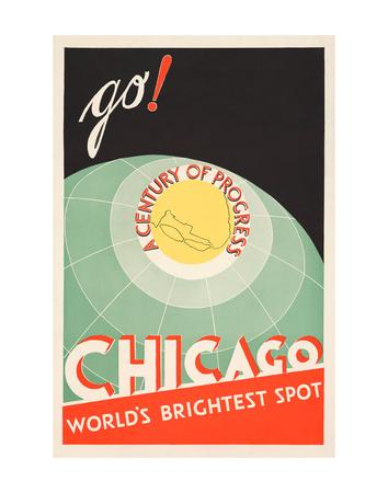 Chicago. World's brightest spot. Go! Affischer av  The Cuneo Press