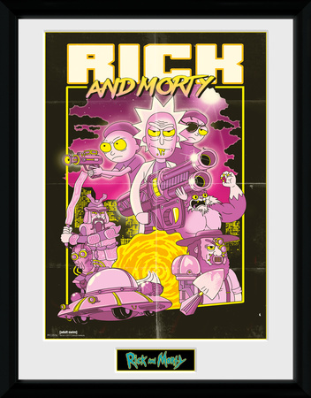 Rick & Morty - Action Movie Collector Print