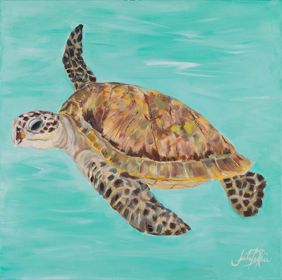 Sea Turtle II Posters by Julie DeRice