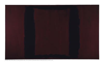 Mural, Section 3 {Black on Maroon} [Seagram Mural] Giclee Print by Mark Rothko