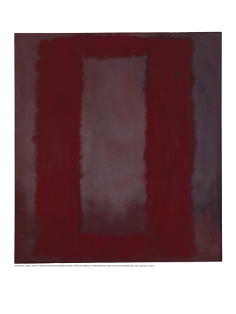 Mural, Section 4 {Red on maroon} [Seagram Mural] Giclee Print by Mark Rothko