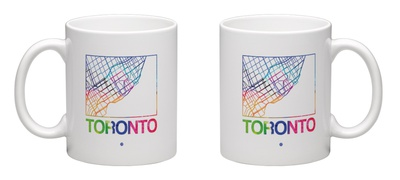 Toronto Watercolor Street Map Mug Mug by  NaxArt