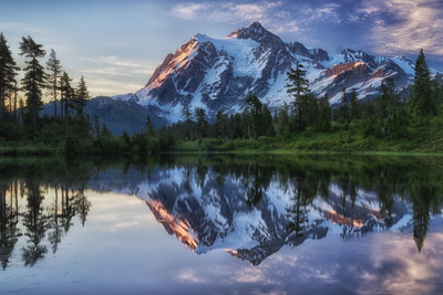 Sunrise on Mount Shuksan Photographic Print by James K. Papp