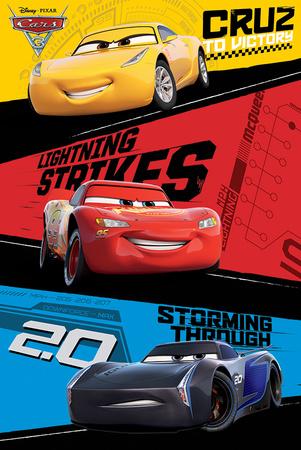 Cars 3 - Trio Plakater