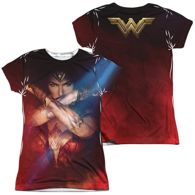 Juniors: Wonder Woman Movie - Arms Crossed (Front/Back) Womens Sublimated