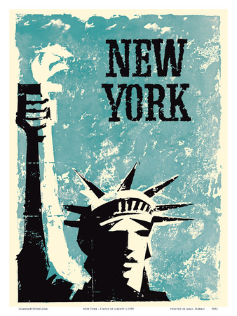 New York - Statue of Liberty Print by  Pacifica Island Art