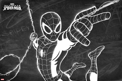 Ultimate Spider-Man Chalkboard (Exclusive) Photo