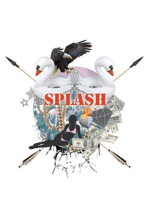 Splash Culture White Posters