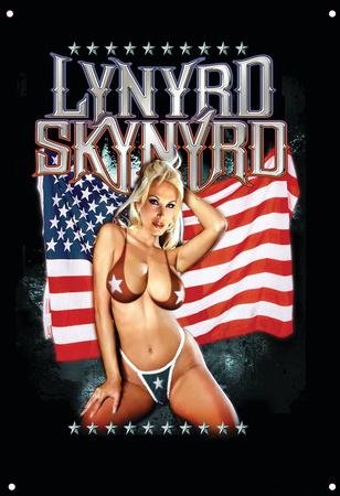 Lynyrd Skynyrd - Girl with Flag Tin Sign