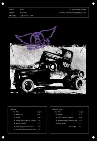 Aerosmith - Pump Tin Sign