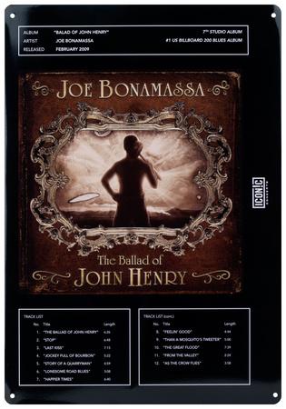 Joe Bonamassa - Ballad of John Henry Tin Sign