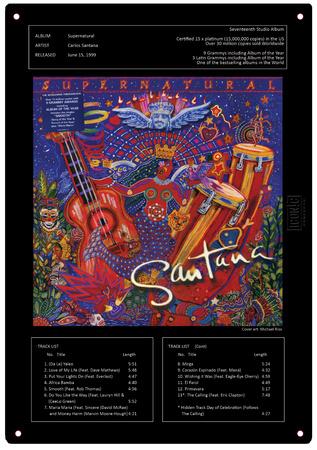 Santana - Supernatural Tin Sign