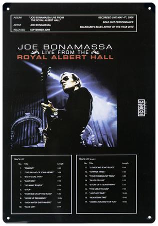 Joe Bonamassa - Live at Royal Albert Hall Tin Sign