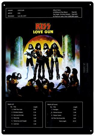 KISS - Love Gun Tin Sign