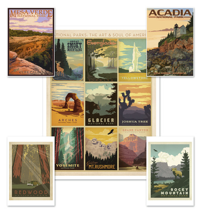 National Parks Poster Set Value Set