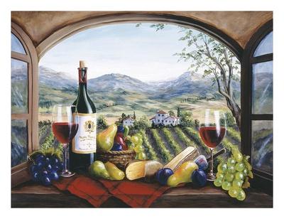 Rich Harvest in Reds Poster by Barbara Felisky