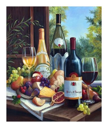Still Life with Wines Prints by Barbara Felisky