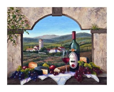 A Tuscany Vista Poster by Barbara Felisky
