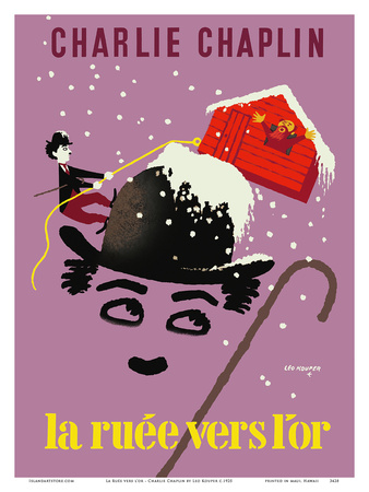 The Gold Rush (La Ruee vers l'or) - Starring Charlie Chaplin Posters by Leo Kouper