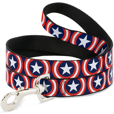Captain America - Shield Repeat Dog Leash Novelty