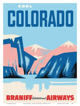 Cool Colorado - Braniff International Airways Art by  Pacifica Island Art