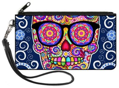 Hipster Calavera Canvas Zipper Wallet Wallet