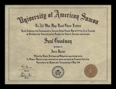 Better Call Saul - Diploma Collector-tryk
