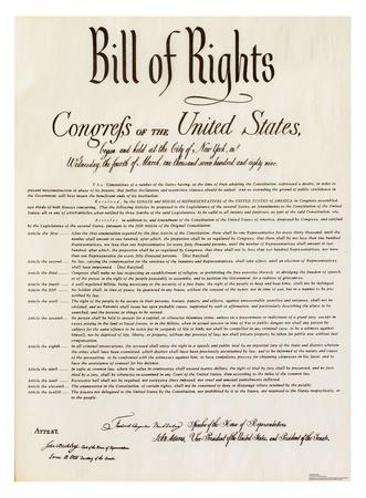 Bill of Rights Cardboard Cutouts