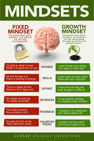 Growth Mindset Print by  Gerard Aflague Collection