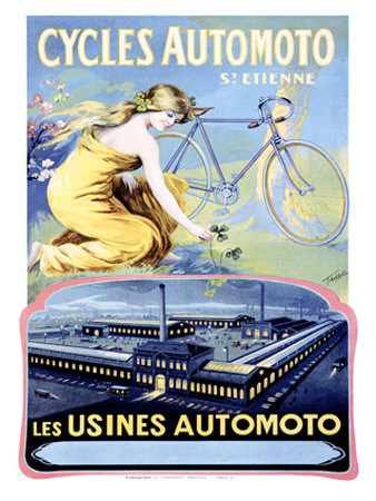 Cycles Automoto Giclee Print by Francisco Tamagno