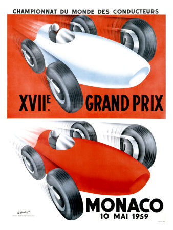 Monaco, 1959 Gicle-Druck