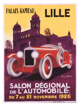 Salo Auto Lille Giclee Print by Geo Ham