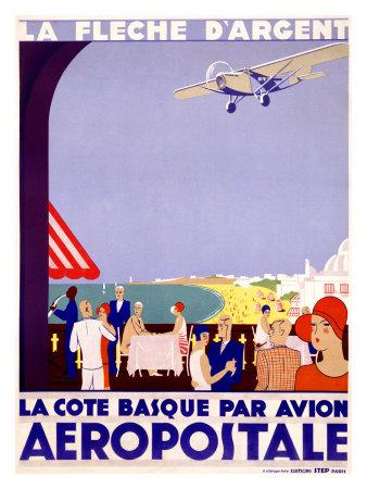 La Fleche d'Argent, Aeropostale Giclee Print