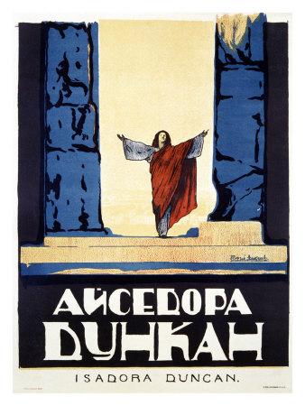 Isadora Duncan Giclee Print by Alexander Alexeieff