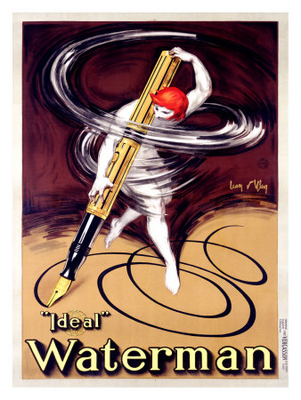 Waterman Ideal Fountain Pen Giclee Print by Jean D' Ylen