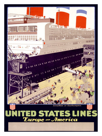 United States Line Giclee Print